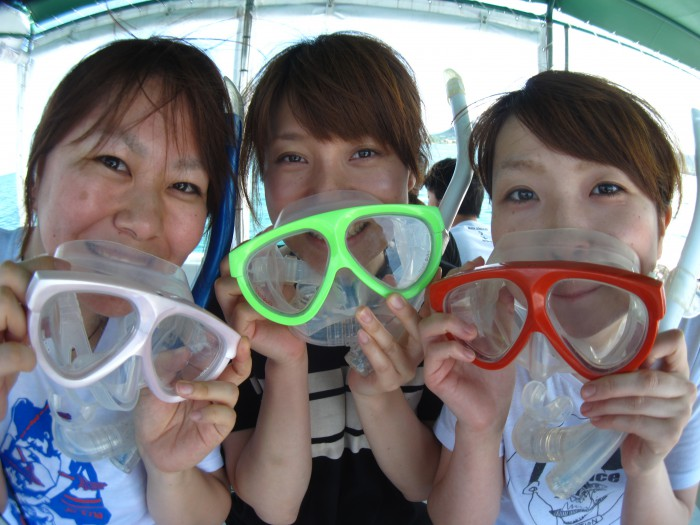 石垣島の海はサイコーです!!