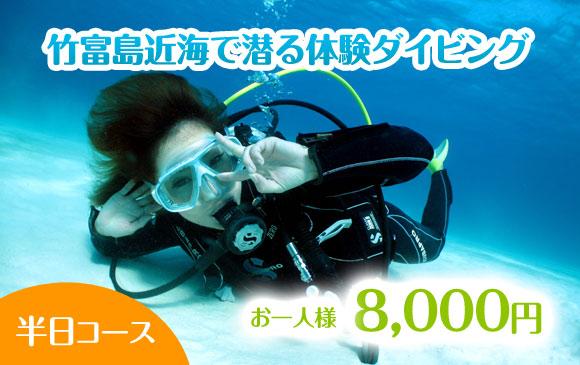 お手軽!竹富島近海で潜る体験ダイビング【半日コース】