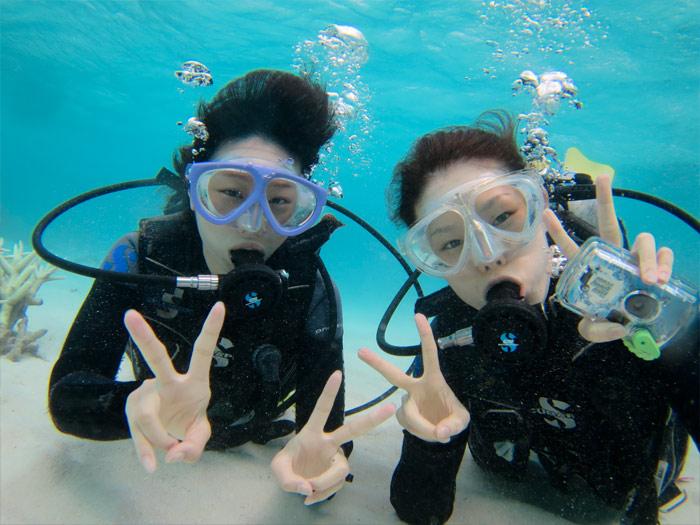 午前は体験ダイビングを楽しもう!