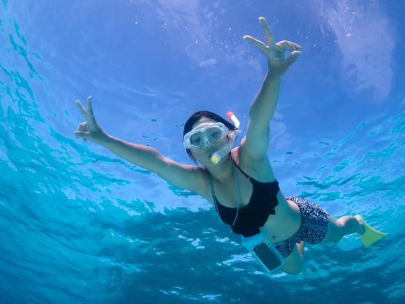 透明度の高い海でシュノーケリングは最高!